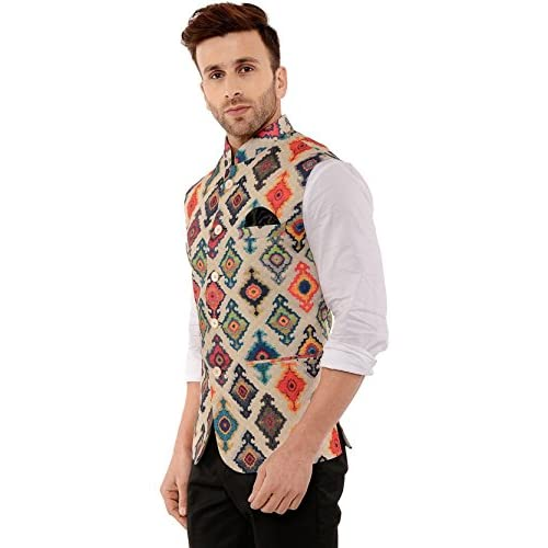 41cay HQmLL. SS500  - Cenizas Casual Multicolor Nehru Jacket Neck Waistcoat for Men Slim fit