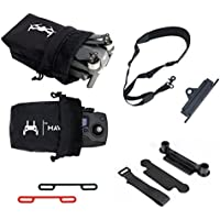 Rantow Mavic Drone Accessories Combo Thumb Stick Protector Clip + 2 Pieces Fixing Propeller Clip + Neck Strap + Lanyard Buckle + 2 Pieces Waterproof Storage Bags for DJI Mavic Pro Drone