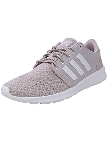 (adidas Women's Cloudfoam QT Racer Running Shoe, Ice Purple/White/Light Granite, 9 Medium)