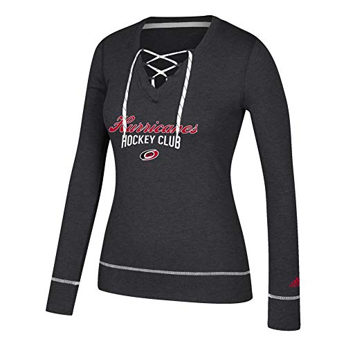 Lace Hurricane - adidas Women's Carolina Hurricanes Long Sleeve Skate Lace Top (X-Large)