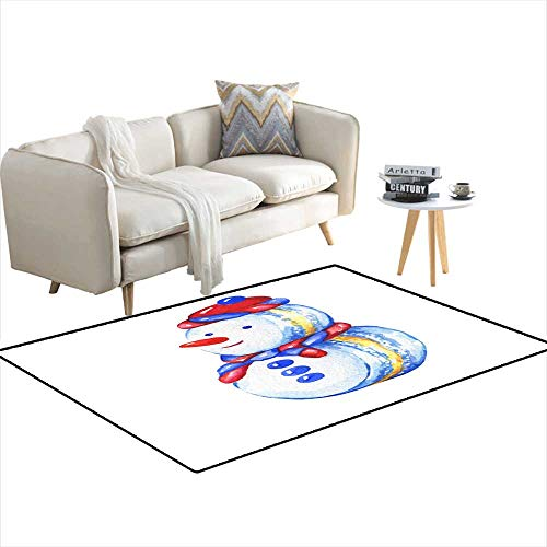 - Extra Large Area Rug Snowman Cupcake Christmas Decoration - Greeting carinvitation New Year Snowman Macaron Snowman Silhouette Watercolor han 55