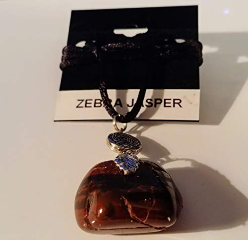 Uncut, natural, handmade, semi precious, Zebra Jasper necklace from Utah