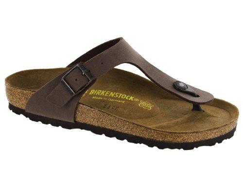Birkenstock Women's Gizeh Birkibuc Sandals - Mocha 38 - (Birkenstock Ladies Sandals)