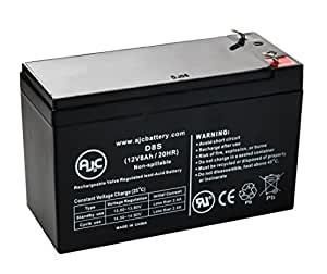 PCM PowerCom Vanguard VGD-12000, VGD-15000 12V 8Ah UPS Battery - This is an AJC Brand® Replacement