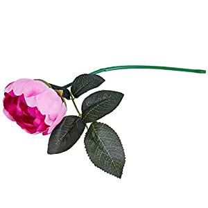 Artificial Dried Flowers - Vintage Bunches Arrangement Artificial Peony Flowers Bouquet Home Wedding Decoration Dark Pink - Flower Peony Decor Bridal Lily Head Gerbera Purple Blue Rose 21