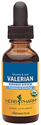 Herb Pharm Certified Organic Alcohol-Free Valerian Root Glycerite for Restful Sleep - 1 Ounce