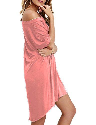 Haola Women Loose T Shirts Home Short Shirt Mini Dresses Tops XL ()