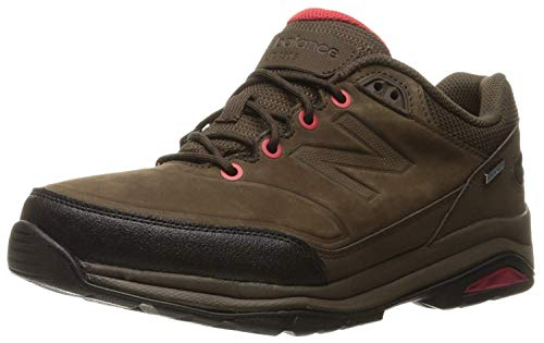 New Balance Men's 1300 Trail Walking Shoe, Brown/Red, 7.5 D US