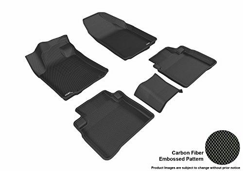 3D MAXpider Complete Set Custom Fit All-Weather Floor Mat for Select Nissan Maxima Models - Kagu Rubber (Black) (Maxima Vinyl Nissan)