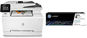 HP LaserJet Pro M281fdw All in One Wireless Color Laser Printer and HP 202X Black High Yield Toner Cartridge