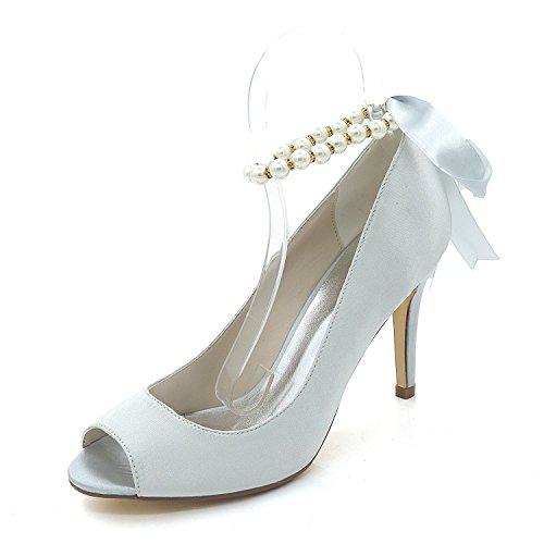 Soirée Talons Mariage Hauts Club Peep Chaussures Robe Sandales Personnalisé yc Gray Femmes Toe Et L Multicolore De 7pwFq