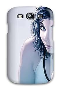 Pretty RsUMtxo7801JLtDI Galaxy S3 Case Cover/ Music Woman Eyes Young Headphones People Music Series High Quality Case
