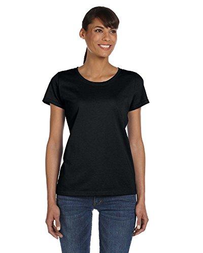 Fruit of the Loom sudadera con capucha para mujer HDTM T-camiseta de manga corta para algodón resistente negro