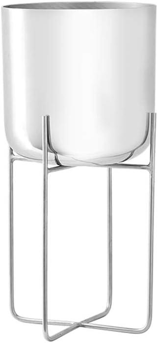 LRW Moderner minimalistischer weißer Schmiedeeisen-Blumen-Stand-Innenwohnzimmer-Balkon-Blumen-Stand (Size : S)