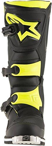Alpinestars Mens Tech 1 Boot (Black/Yellow, 15) by Alpinestars (Image #1)