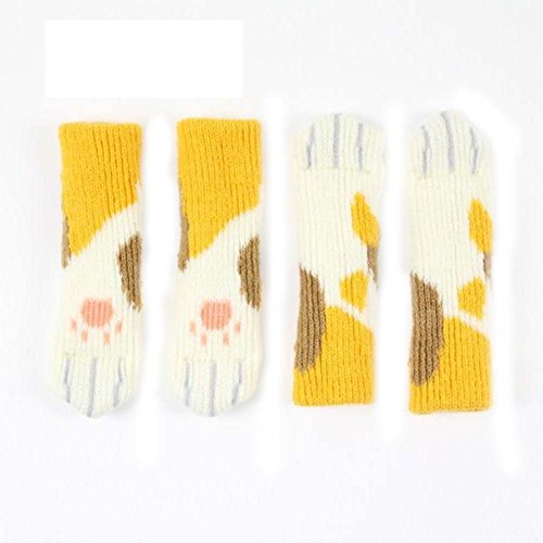 BALUZ 24PCS Chair Leg Socks Knitted Furniture Socks for Home Kitchen a Set of 4PCS by BALUZ