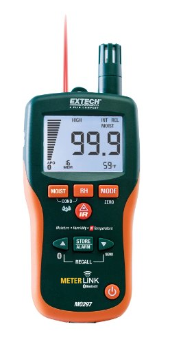 Extech MO297 Pinless Moisture Psychrometer with IR Thermometer and Bluetooth MeterLink (Thermal Moisture Meter compare prices)