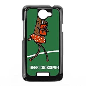 HTC One X Cell Phone Case Black DEER CROSSING Cseyk
