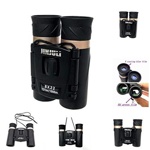 Aobiny Telescope,Binoculars- Kids Binoculars Mini Folding Binoculars Compact Binoculars for Adults Waterproof Telescope for Bird Watching, Football Safari Sightseeing, Camping and Travel ()