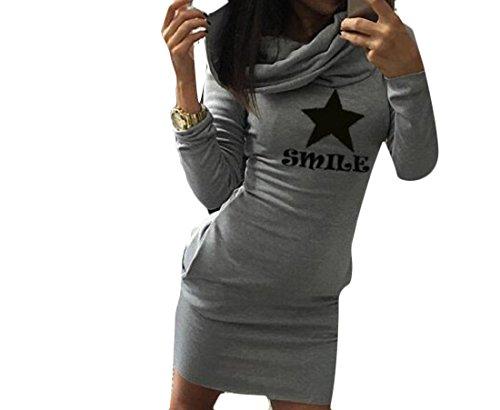 Les Femmes Coolred Couleur Pure Impression Lettre Robe Partie D'affaires Élégant Capot De Noir