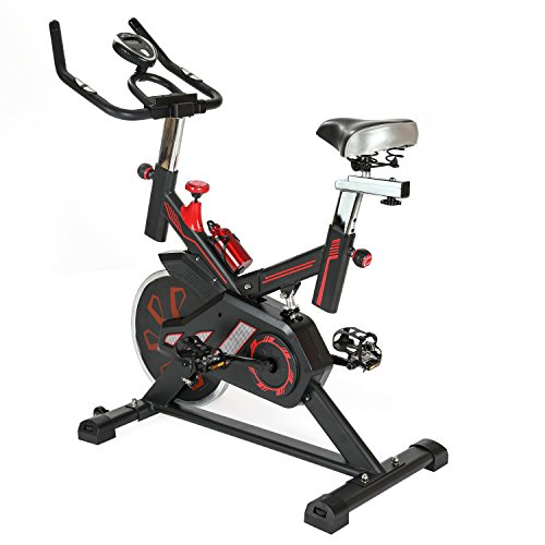 Relife Sports Exercise Bike Fitness Indoor Cycling Adjustable Workout Trainer Upright Stationary Bike Resistance Bicycle Equipment by Relife Sports