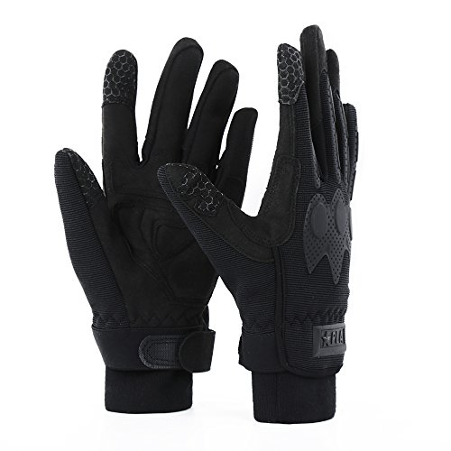 Plastic Mens Glove (Winter Outdoor Thickening Ski Hunting Climbing Travel Touch Screen Windproof Warm Work Gloves (L))