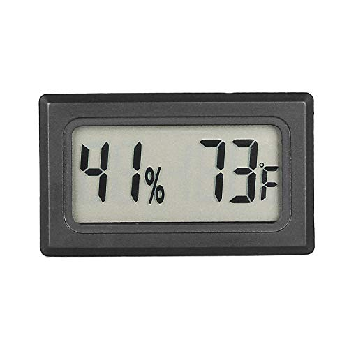Mini Digital Hygrometer Humidor Cigar Box Hygrometer Thermometer Indoor Humidity Monitor with Temperature Humidity Gauge Meter for Cars Incubators and Brooders Climb Pet (Fahrenheit)