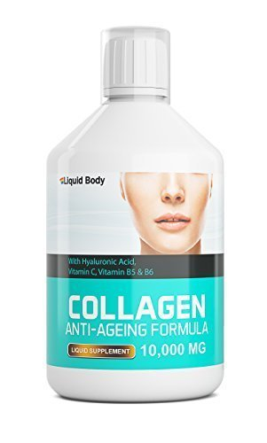 Liquid Body Mega Collagen | 10,000mg per serving with Hyaluronic Acid |...