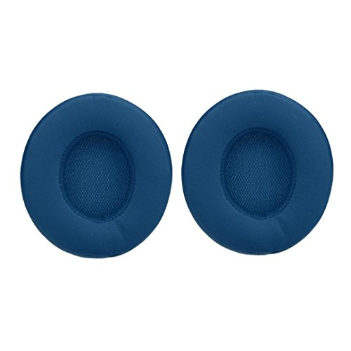 Price comparison product image Sunfei1Pair Replace Ear Pads Cushions Leather for Beats By Dre Solo3 Solo 3.0 Headphones (Blue)