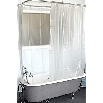 Amazon Com D L Extra Wide Vinyl Shower Curtain For A Clawfoot Tub