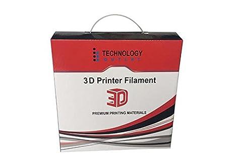 Black TECHNOLOGYOUTLET PREMIUM 3D PRINTER FILAMENT 1.75MM PET-G
