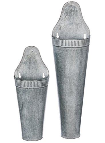 Set of 2 Assorted Sullivans Galvanized Metal Hanging Pocket Baskets