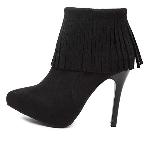 Stiletto Girls Winkle A Frosted Pinker Black Boots Tassels amp;N qTxx5Xw7S