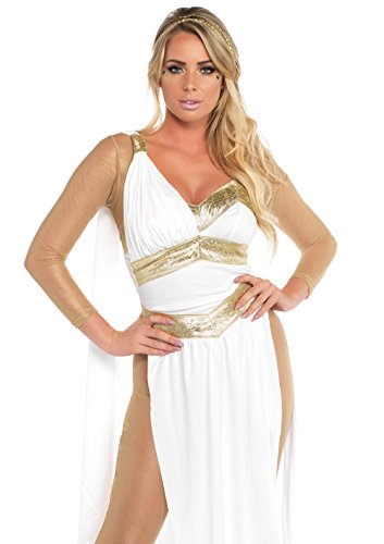 Leg Avenue Women's Sexy Golden Greek Goddess Costume,