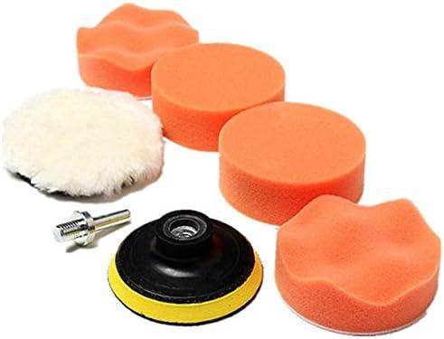 Polieren Polieren Pad Schwamm Polierzubeh/ör Wolle Waxing Polieren Bremsbel/äge Kit Auto Auto mit M10/Bithalter