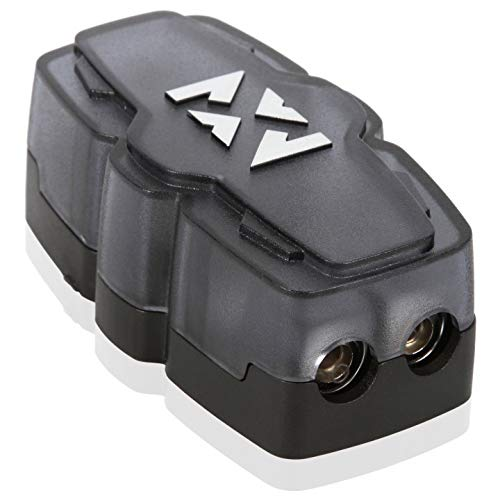 NVX XFDBU2 2 Position Fused Distribution Block with One 0/1 Gauge Input and two 4/8 Gauge Outputs