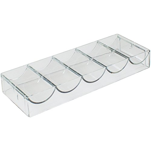 Brybelly Clear Acrylic Chip Rack - Holds 100 - Chip Tray Casino