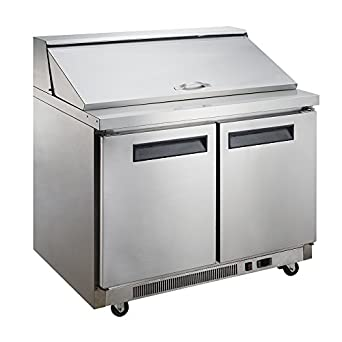 Amazoncom Dukers DSPMS Cu Ft Door Commercial Food - Commercial prep table refrigerator