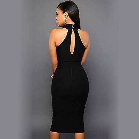 Vestidos de Fiesta de Noche Elegantes De Mujer Casuales Cortos Pegados Al Cuerpo VE0026 at Amazon Womens Clothing store: