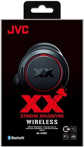 JVC HA-XC90T XX True Wireless Headphones with Bass Boost, 45H Battery Life, Touch Control, Qualcomm aptX Audio, Waterproof (IP55)