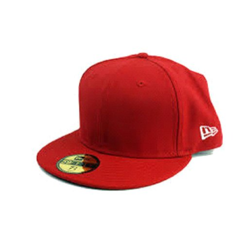 New Era 59Fifty Scarlet Red Original Basic Fitted Cap (7 5/8