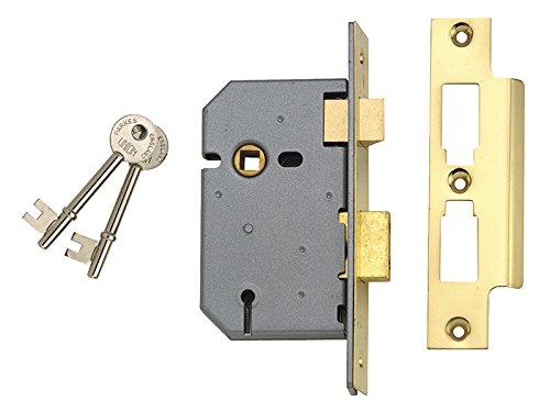 Union 3 Lever Mortice Sash Lock, Polished Brass Finish 3