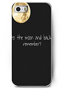 For iphone 6 plus 5.5 case Faith Religious Christian Inspirational Quote Design to the moon and back remember? - For iphone 6 plus 5.5 Case Cover Protection