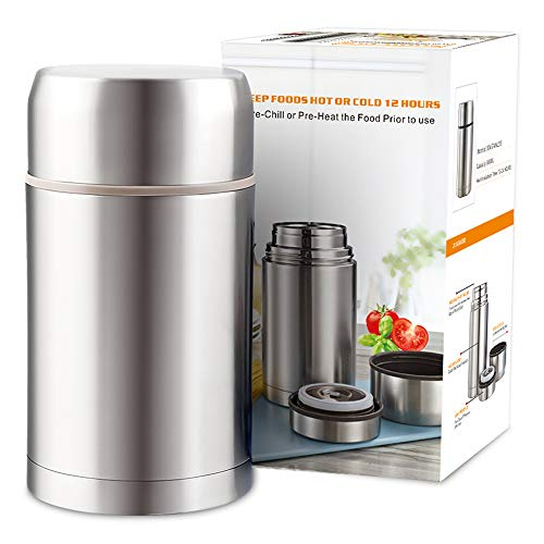 TOMAKEIT Food Jar 28oz (800ml), Vacuum Insulated Stainless Steel Lunch Thermos,BPA Free,Leak Proof,Hot and Cold Preservation Food Container ()