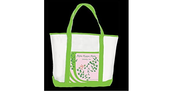 a5d58607745 Amazon.com : Alpha Kappa Alpha Sorority Tote Bag : Everything Else