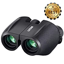 SGODDE Compact Binoculars,10x25 Waterproof Fogproof High Powered Binocular - Large Eyepiece,Super HD View, Low Light Night Vision Prism Binoculars Bird Watching Sightseeing Outdoor Adventures