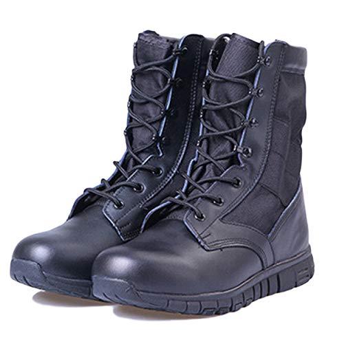snfgoij Gli Stivali Militari Uomini Trekking Leggero Super Leggero E Alto Aiuto Respirabile Speciale di Soldati Black