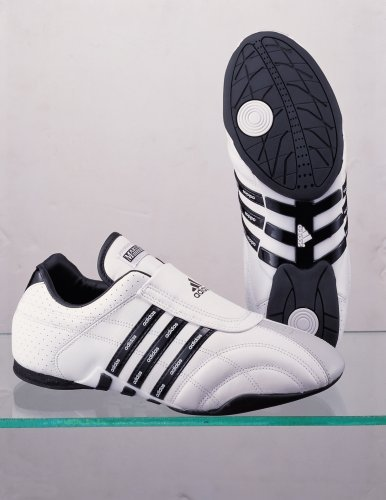 Adidas Adiluxe, Martial Arts sneakers, Tae kwon Do (TKD) sneakers (White with Black Stripes) Restricted Amount