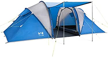 trail outdoor leisure Hartland 4 Man 2 Room Tent With Living Area Waterproof To 3000mm Family Camping