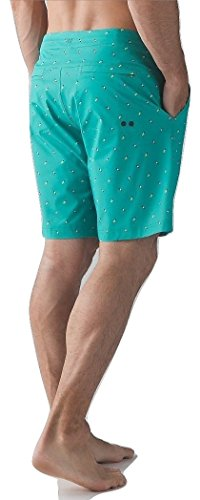 Lululemon Mens Commission Short Board Short Swim Suit Arctic Teal - Shorts Lululemon Swim Mens